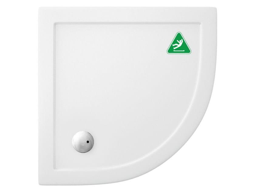 Corner anti-slip acrylic shower tray T-FORMAT | Shower tray by Polo