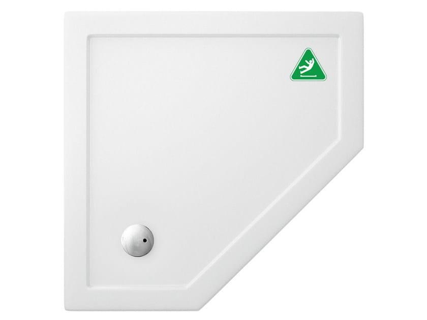 Corner anti-slip acrylic shower tray T-FORMAT | Corner shower tray by Polo