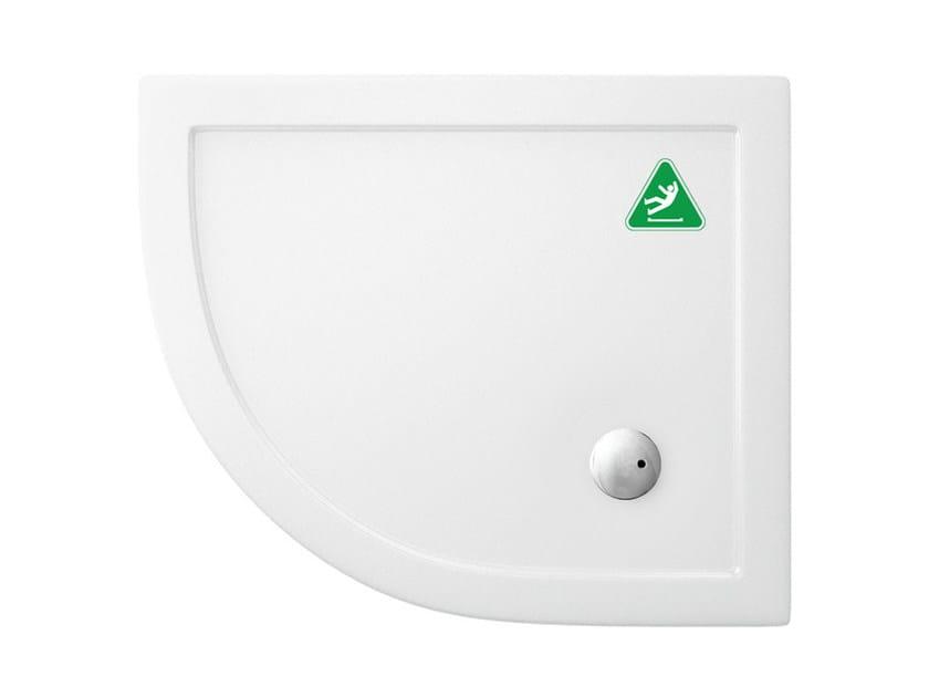 Corner anti-slip acrylic shower tray T-FORMAT | Anti-slip shower tray by Polo