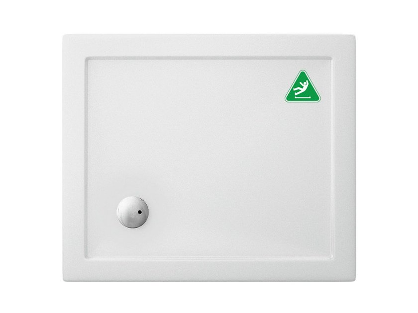 Anti-slip rectangular acrylic shower tray T-FORMAT | Anti-slip shower tray by Polo
