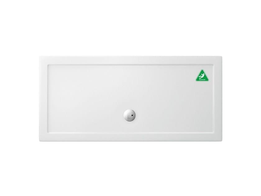 Anti-slip rectangular acrylic shower tray T-FORMAT | Rectangular shower tray by Polo