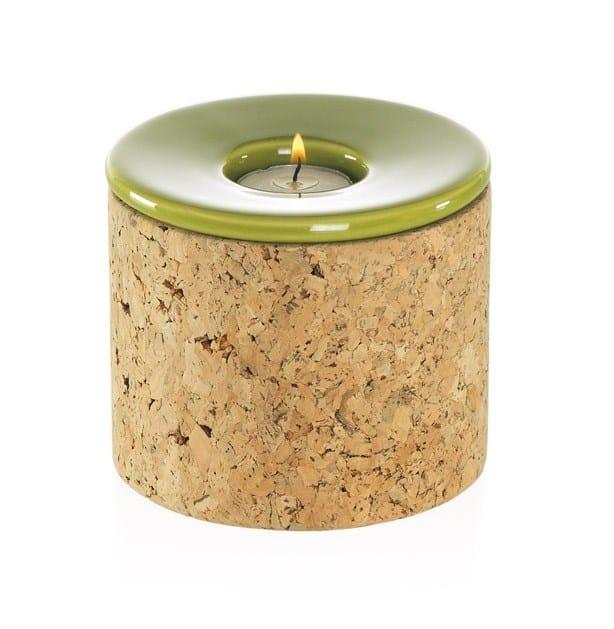 Ceramic candle holder T-LIGHT CORK by ENVY