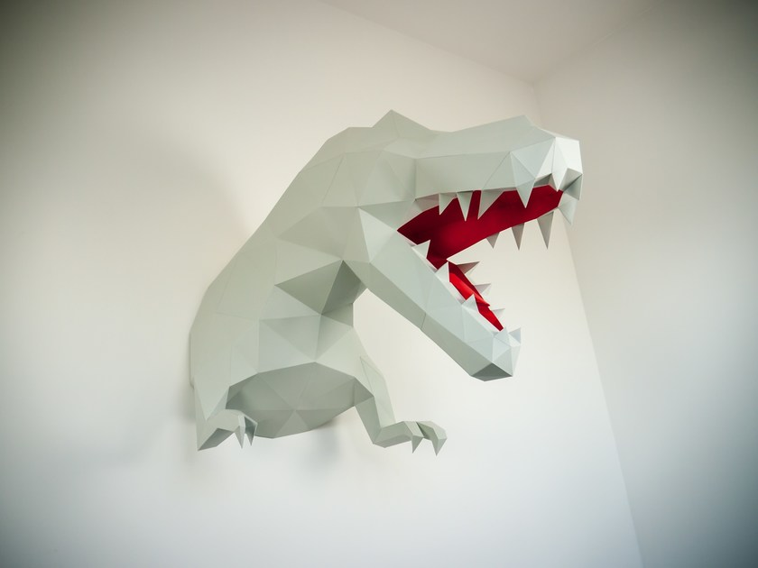 Paper wall decor item T-REX By Papertrophy