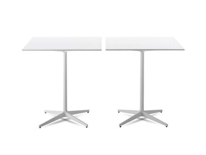 Square table with 4-star base T TABLE by MDF Italia