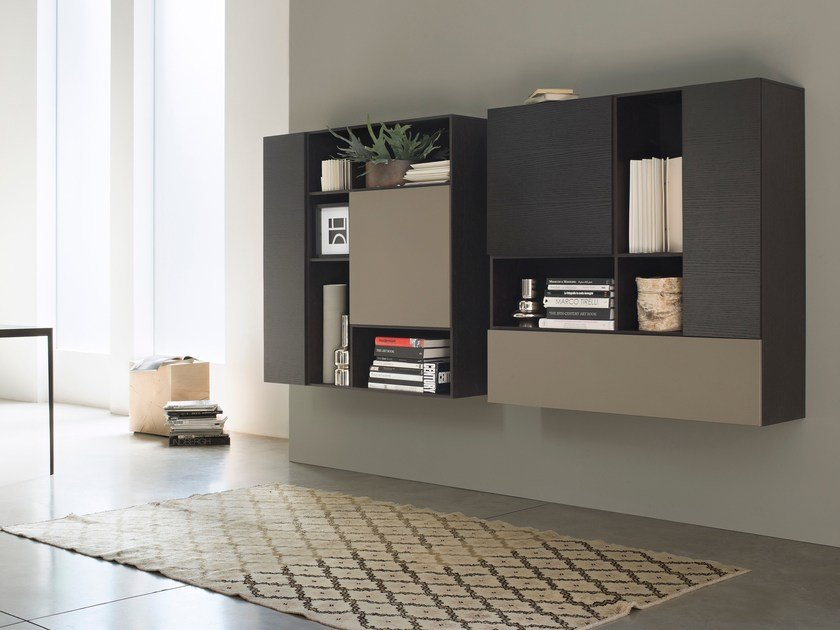 Modular suspended highboard with doors T030 | Highboard by Lema