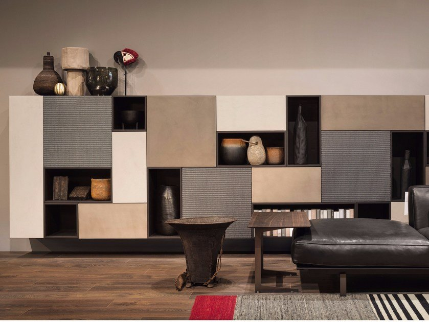 Sectional storage wall T030 | Storage wall by Lema