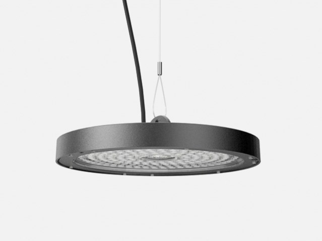 LED die cast aluminium pendant lamp T1 FLAT by LANZINI