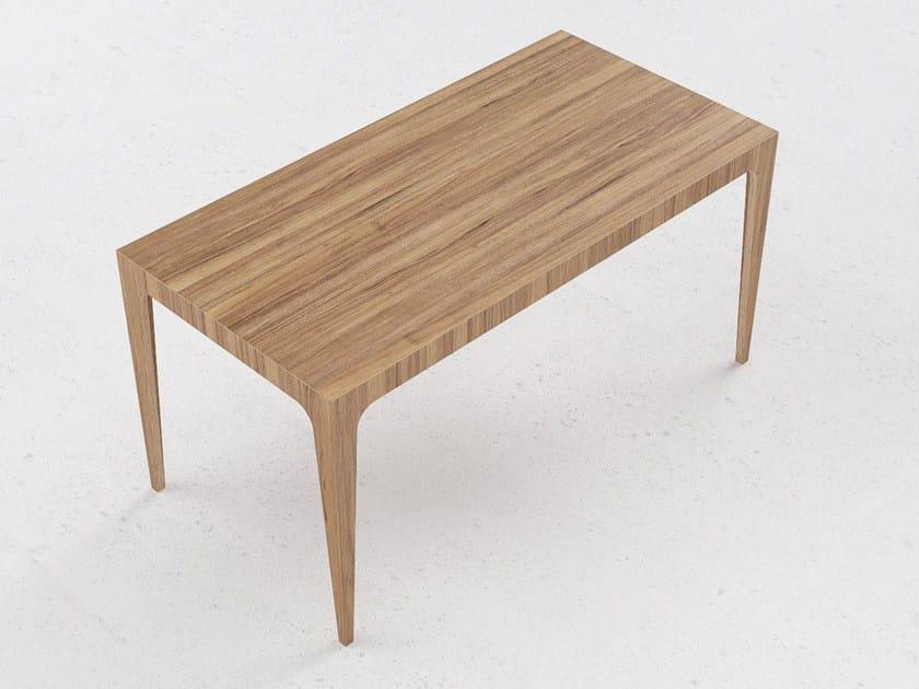 Wood veneer table T3 by ODESD2
