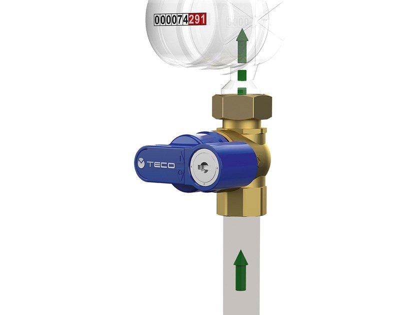 Shut-off valve with lock for low flow rate supply T4 PUNTO BLU® by TECO