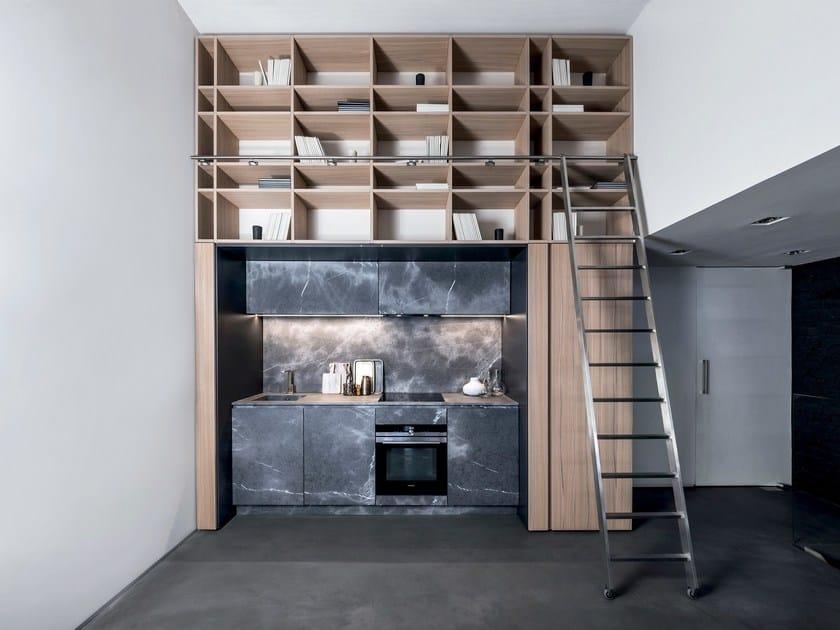 Kitchen in Corinto stone and Elm T45 | Kitchen by TM Italia Cucine