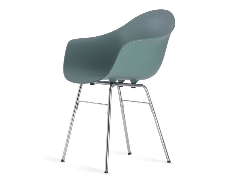 Polypropylene chair with armrests TA ER CHROME by KUBIKOFF