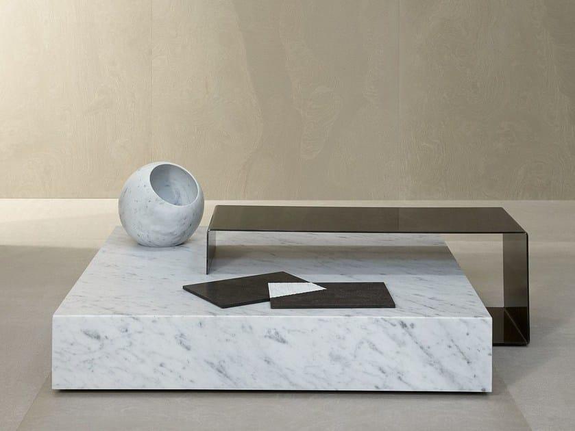 Low square coffee table TA_VOLO® by SALVATORI