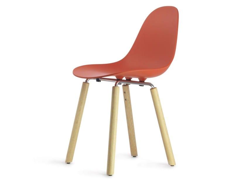 Polypropylene chair TA Yi Natural | Sedia by KUBIKOFF