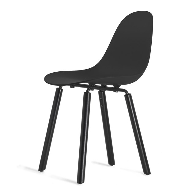 Contemporary style wooden chair TA Yi Black | Sedia by KUBIKOFF