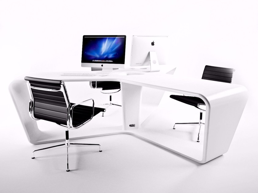 Multiple Adamantx® office workstation for open space TA3LE by ZAD ITALY