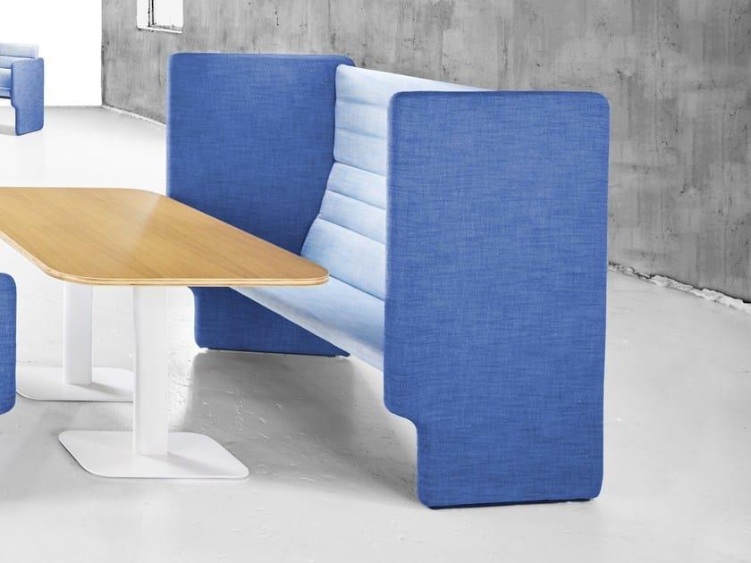 High-back fabric sofa TAB | High-back sofa by Derlot Editions
