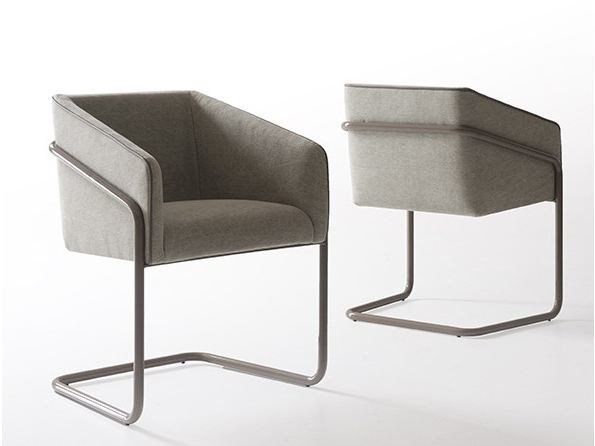 Cantilever restaurant chair with armrests TABATHA by MY home collection