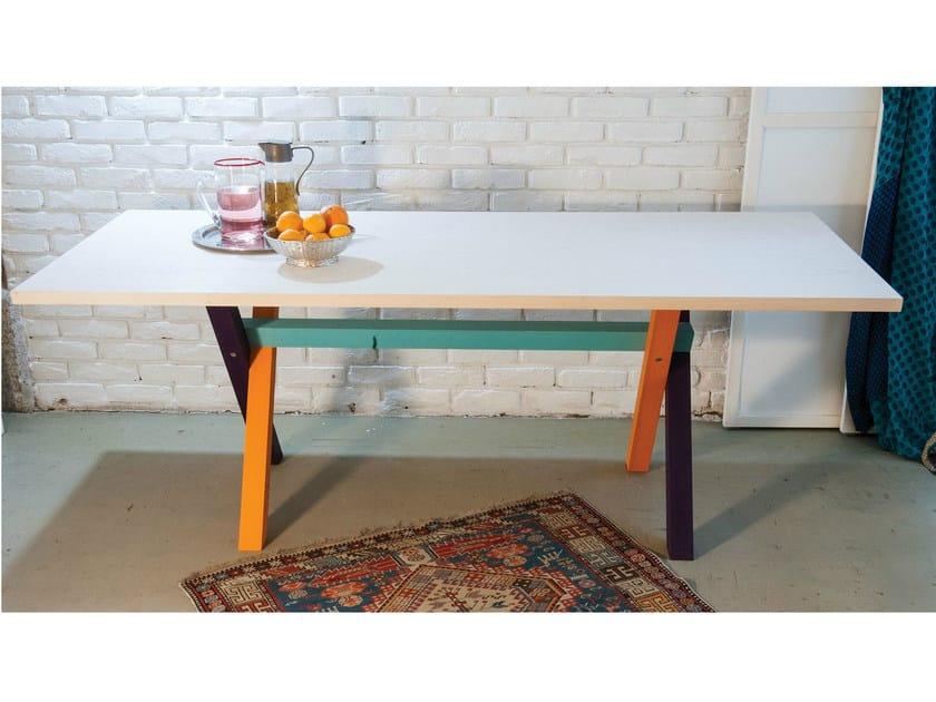 Rectangular ash table TABLAS WOOD by IFT
