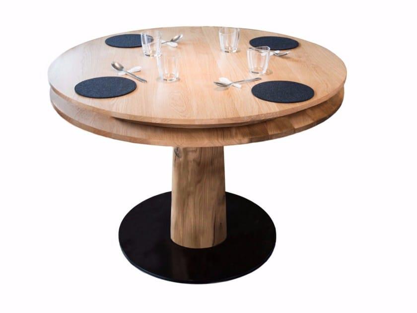 Tavolo Da Pranzo Rotondo : Tavolo da pranzo rotondo in legno massello table d hot riva