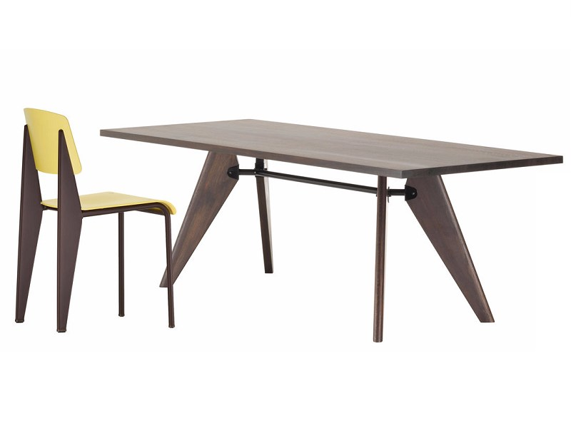 Rectangular solid wood table TABLE SOLVAY by Vitra