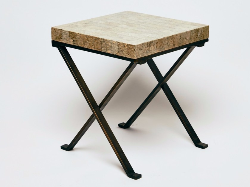 Square coffee table TABLE X by Reda Amalou