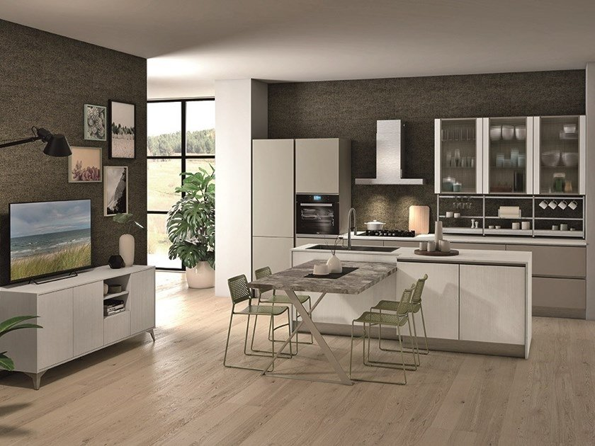 TABLET | Cucina con isola By CREO Kitchens