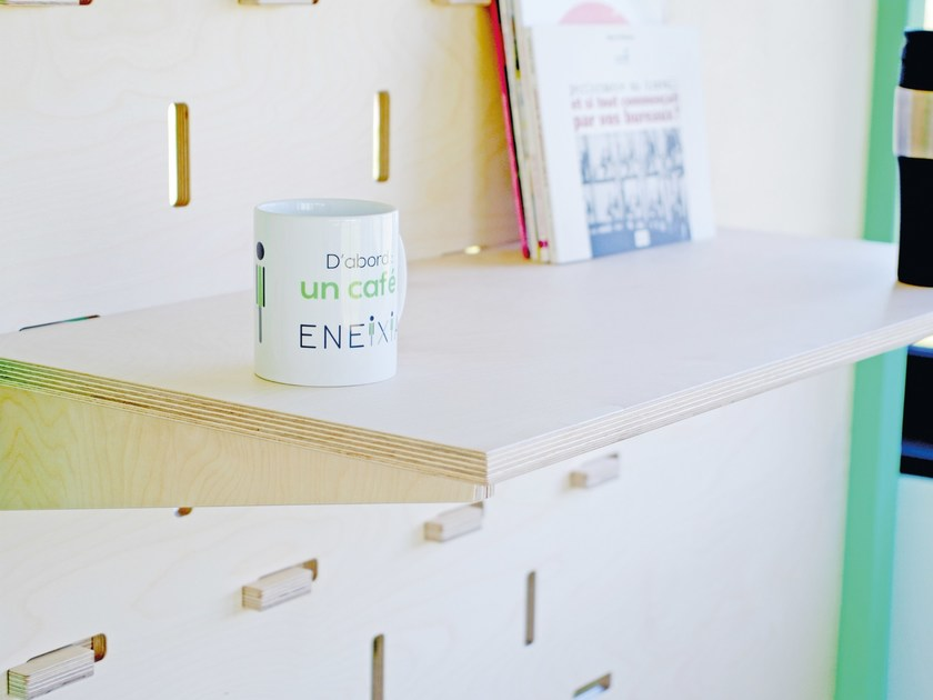 Plywood wall shelf TABLETTE by ENEIXIA