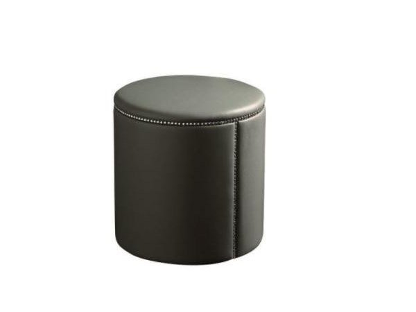 Pouf imbottito in pelle TABOURET by Casamilano