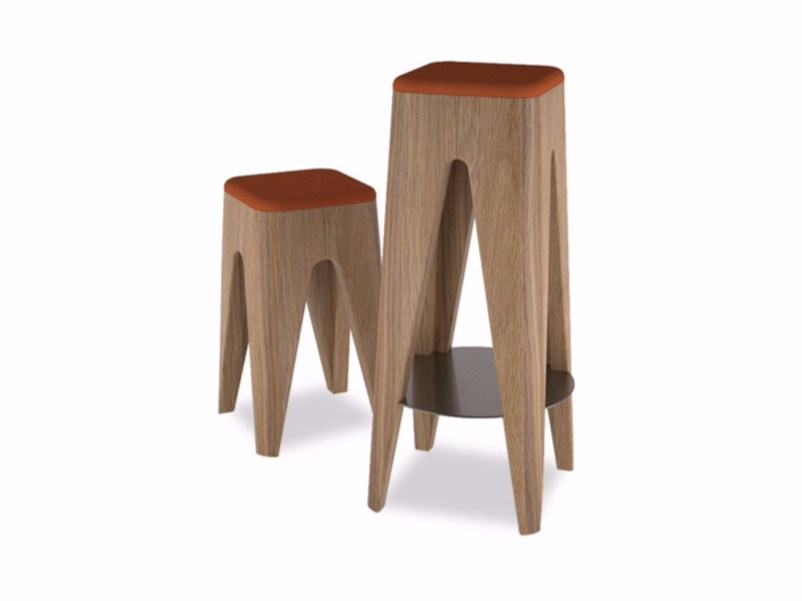 Solid wood stool TABOURET by ESTEL GROUP