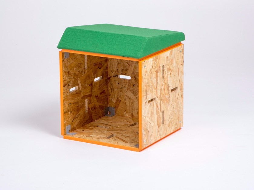 OSB stool TABOURET BAS OSB by ENEIXIA