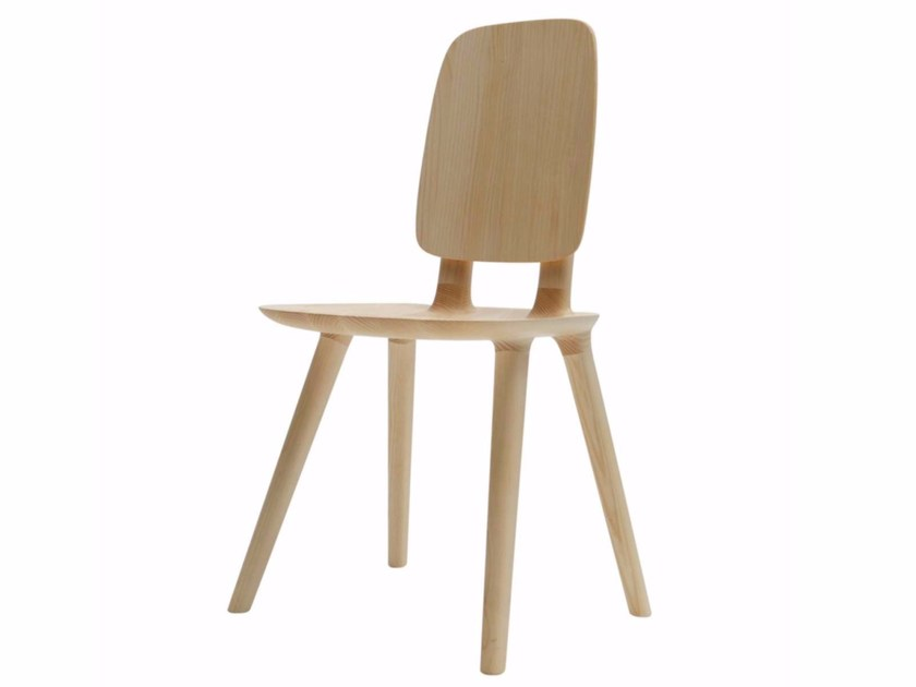 Ash chair TABU BACKREST WOOD - 081 by Alias