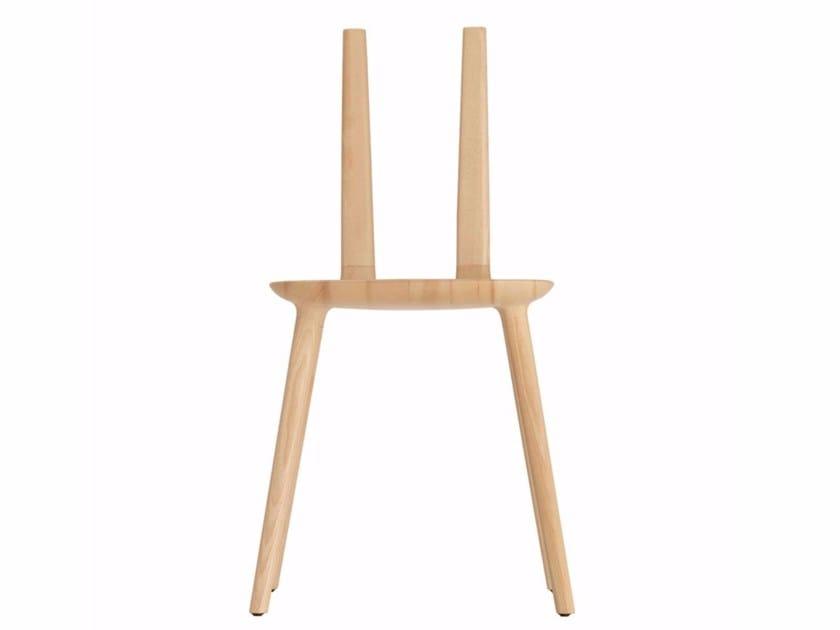 Ash chair TABU NAKED WOOD - 074 by Alias