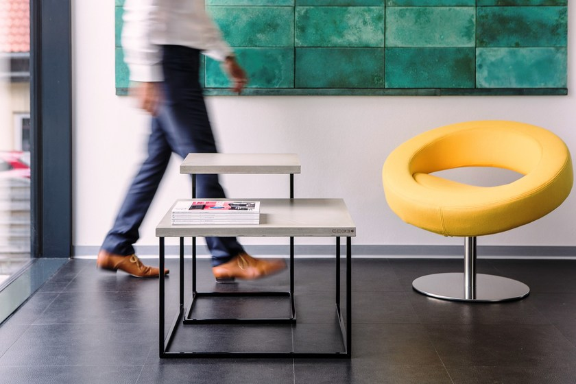Tabula In Duplex Di Calcestruzzo Tavolini E Acciaio Co33 Set 0wOkPn
