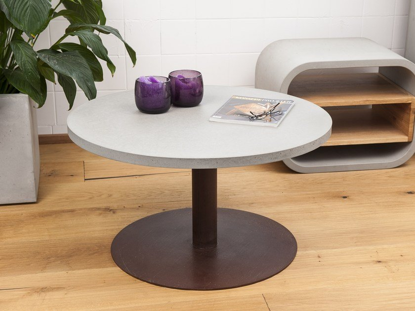 Round Concrete Coffee Table TABULA ORBIS By CO33