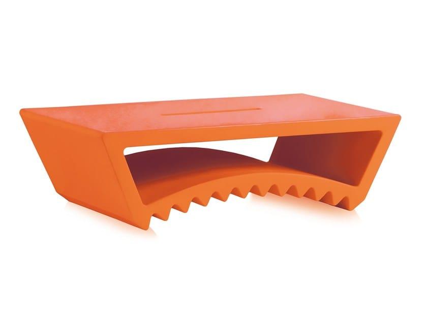 Rectangular polyethylene coffee table TAC by SLIDE