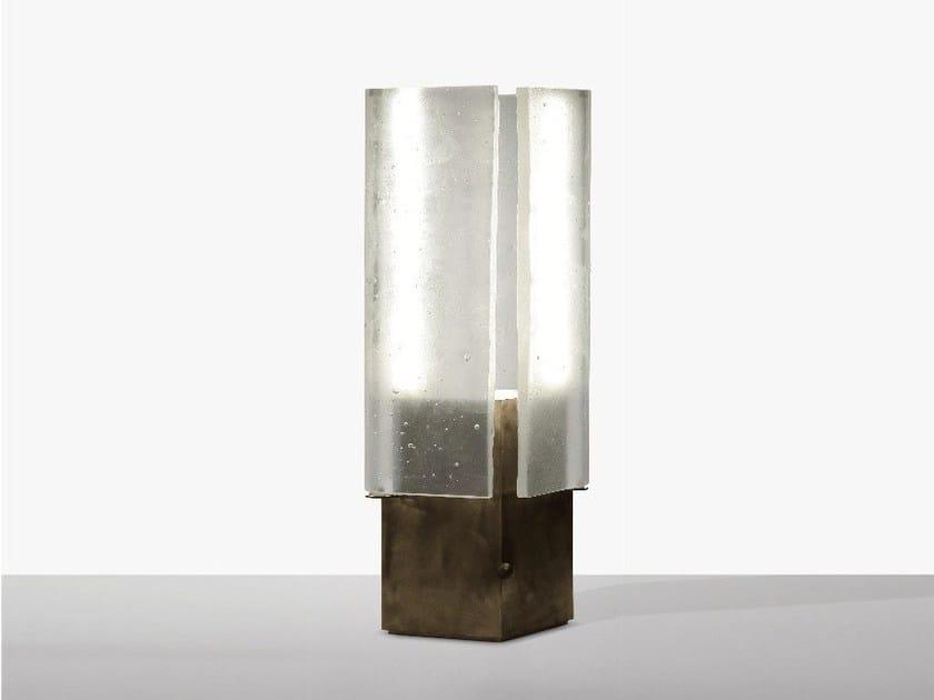 Direct light glass table lamp TAC/TILE | Table lamp by Lasvit