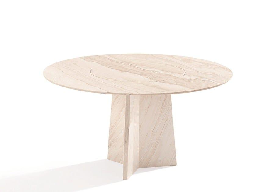 Round stone table TADAO by Draenert