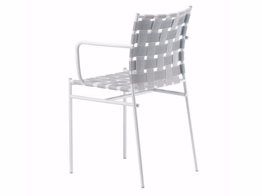 Sedia impilabile con braccioli TAGLIATELLE ARMREST - 716 by Alias