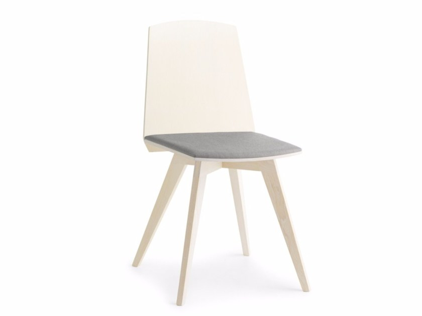 Chair with upholstered seat TAIL HB S by Passoni