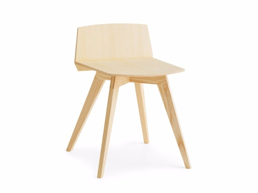 Low wooden stool TAIL LB L by Passoni