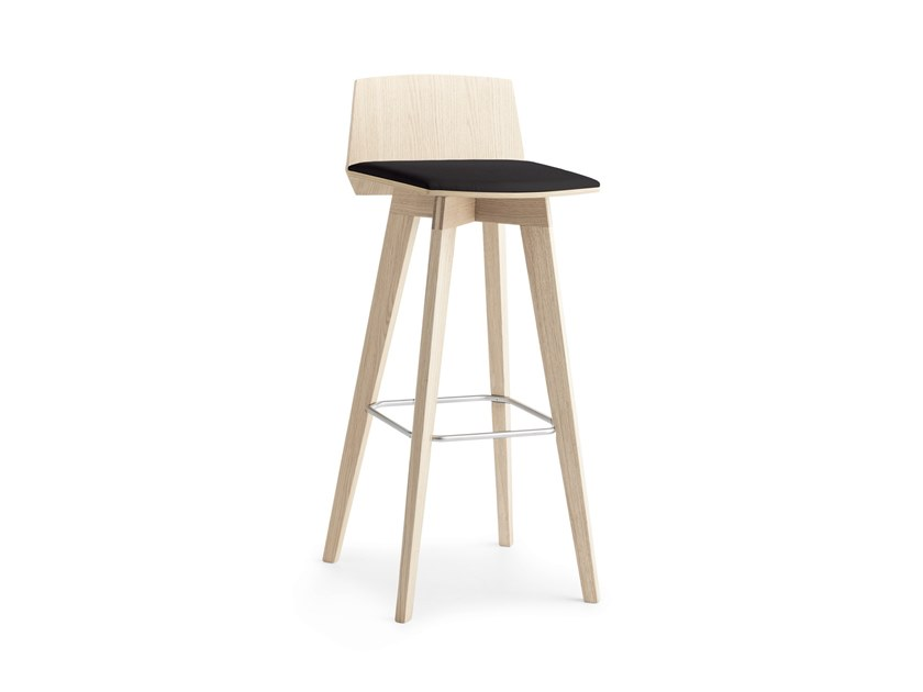 High stool with footrest TAIL S H.65/75 by Passoni