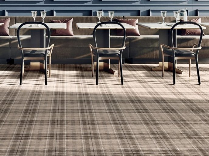 Porcelain stoneware wall/floor tiles with textile effect TAILORART TARTAN DARK by CERAMICA SANT'AGOSTINO
