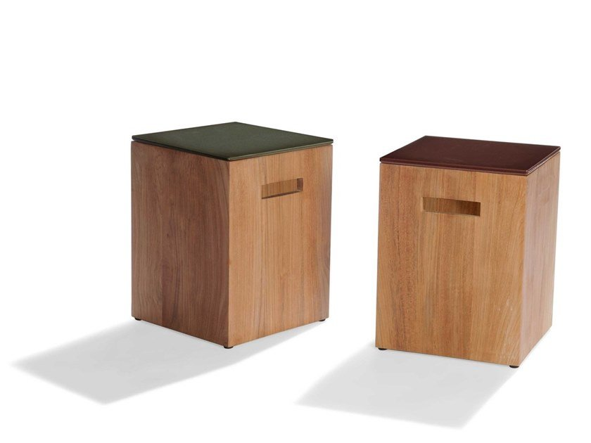 Square garden side table TAIRU | Square coffee table by TRIBÙ