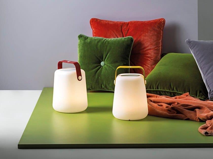 LED RGB polyethylene table lamp TAKE AWAY SOUND by Rossini Illuminazione