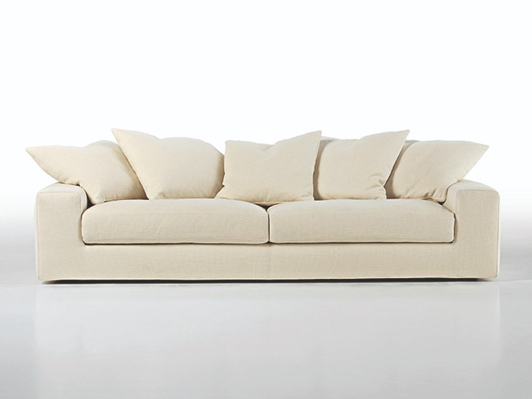 Sofa with removable cover with chaise longue TAKE IT EASY LOW by Busnelli