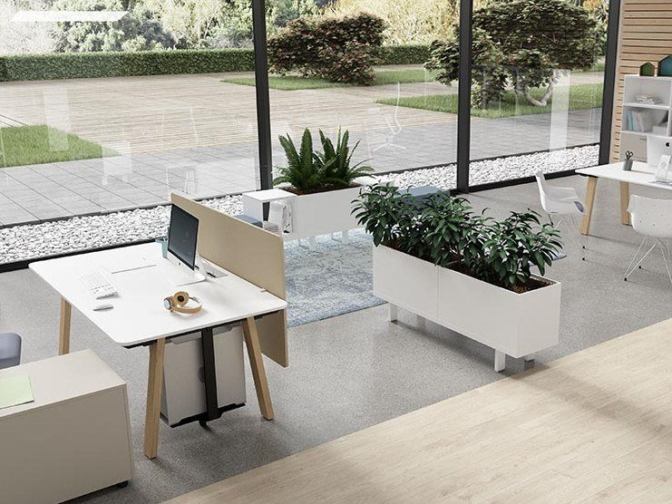 Workstation desk with cable management TAKE OFF EVOLUTION COUNTRY   Office desk with cable management by Bralco