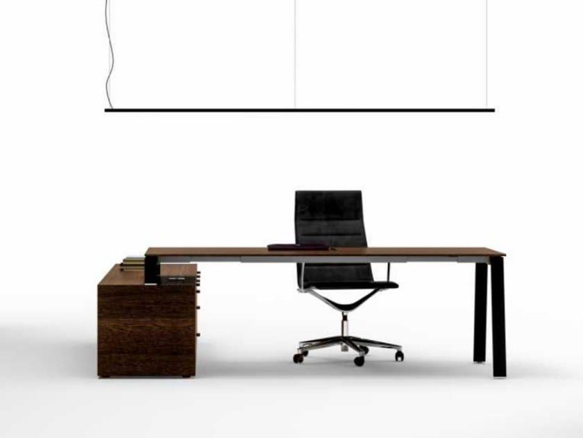 Oak executive desk with shelves TAKE OFF   Executive desk by Bralco