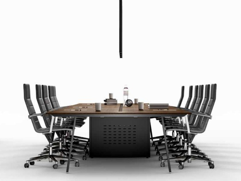 Modular oak meeting table TAKE OFF | Oak meeting table by Bralco
