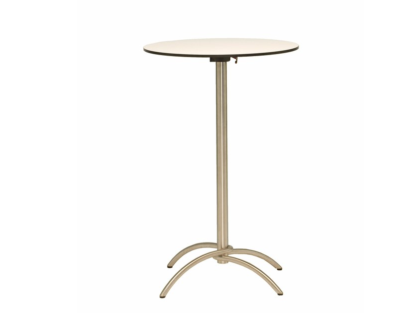 Folding high table with 4-star base TAKU | High table by FISCHER MÖBEL