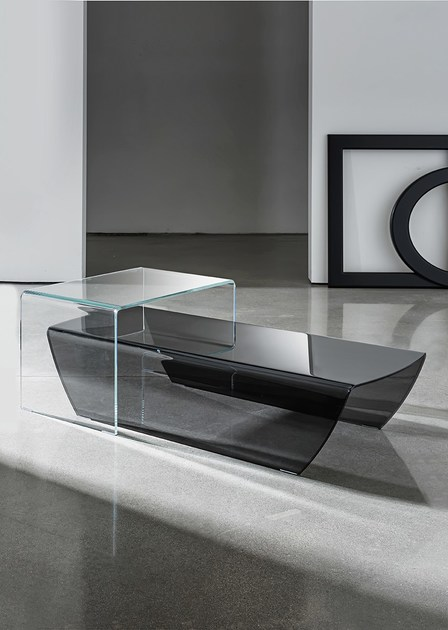 Low Glass Coffee Table TAKY By Sovet Italia
